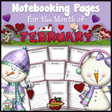 February Writing Pages