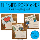 Themed Postcards - Back to School Pack