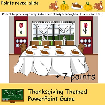 Thanksgiving Themed PowerPoint Review Game