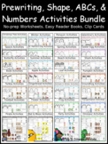 Themed Prewriting, Shapes, ABCs, & Numbers Bundle