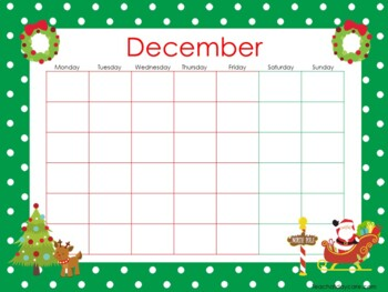 Themed Printable Blank Calendars. Classroom Accessories.