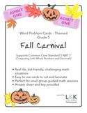 Themed Word Problem Cards - FALL CARNIVAL - Grade 5/6