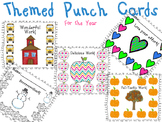 Themed Punch Cards/Stamp Cards for the Year