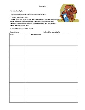 Themed Reading Logs from September to May (For Faith based schools)