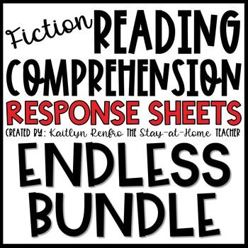 Themed Reading Response Worksheets ENDLESS GROWING BUNDLE