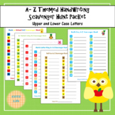 No Prep Themed A-Z Scavenger Hunt Handwriting Sheets