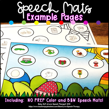 Themed Speech Mats - Growing Bundle - Color/B&W - Sounds in All Positions