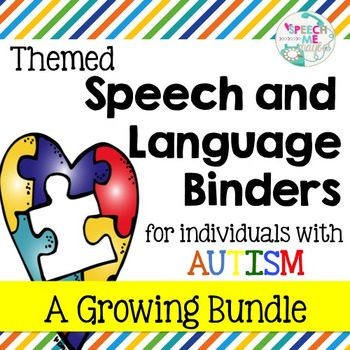 Themed Speech and Language Binders