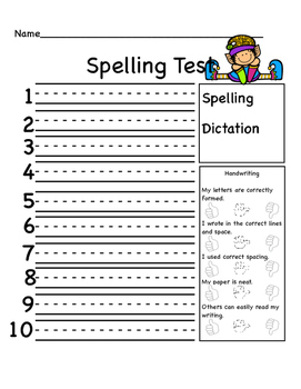 Themed Speling and Dictation Tests