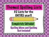 Themed Spelling Lists (for the ENTIRE year!)