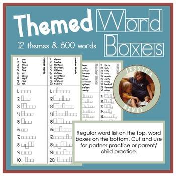 Themed Spelling Program