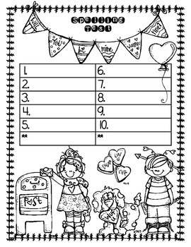 Themed Spelling Test Papers