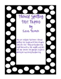 Themed Spelling Test Papers- 20 Questions