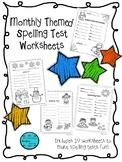 Themed Spelling Test Worksheet