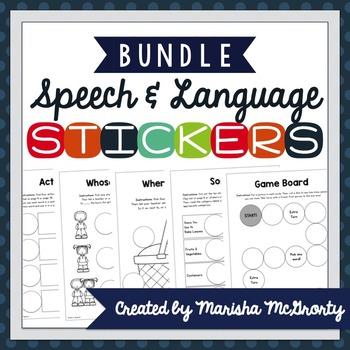 Interactive Speech & Language Stickers {BUNDLE}