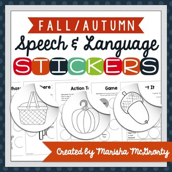 Interactive Speech & Language Stickers {Fall}