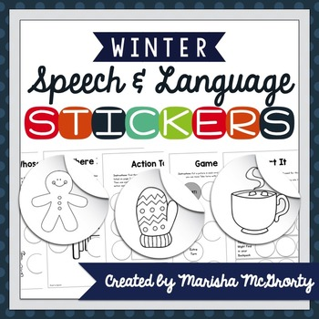 Interactive Speech & Language Stickers {Winter}