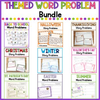 Themed Math Word Problems BUNDLE