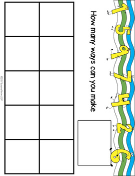 Themed Ten Frames and Number Talks COLORED