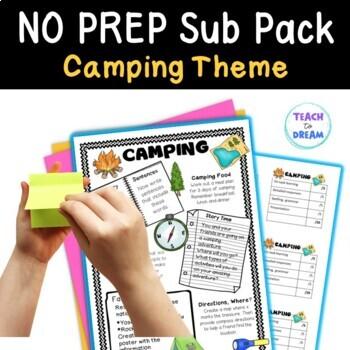 Mini Themed Units: Camping Theme, Fast Finishers, Substitute Teachers