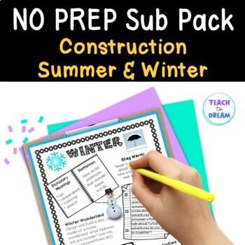 Mini Themed Units: Summer, Winter, Construction Theme BUNDLE