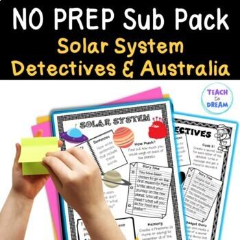 Mini Themed Units: Australia, Detectives, Solar System Theme BUNDLE