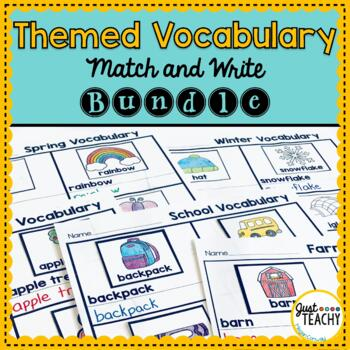 Themed Vocabulary Match & Write Bundle