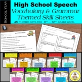HUGE Bundle: Themed Vocabulary and Grammar Units for Speec