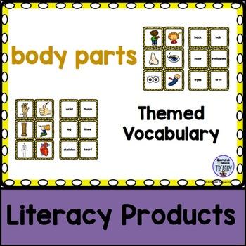 Themed Vocabulary - body parts
