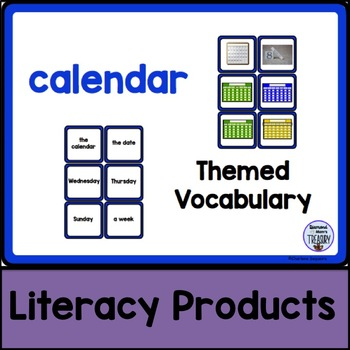 Themed Vocabulary - calendar