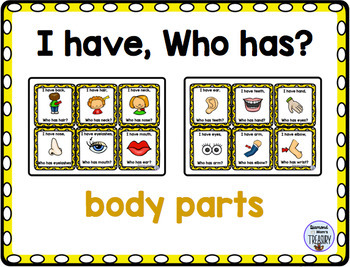 Themed Vocabulary combo pack - body parts