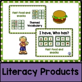 Themed Vocabulary combo pack - fast food and snacks