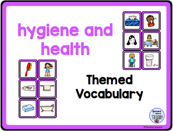 Themed Vocabulary combo pack - hygiene and health