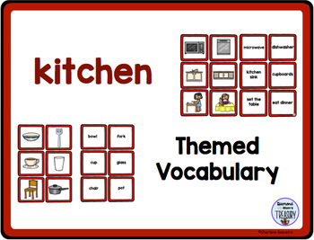 Themed Vocabulary combo pack - kitchen