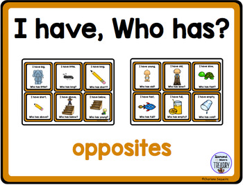 Themed Vocabulary combo pack - opposites
