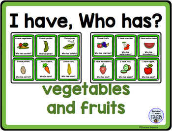 Themed Vocabulary combo pack - vegetables and fruits