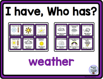 Themed Vocabulary combo pack - weather
