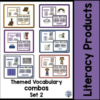 Themed Vocabulary combos - Bundle set 2