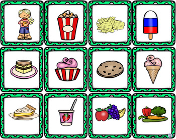 Themed Vocabulary - fast food and snacks