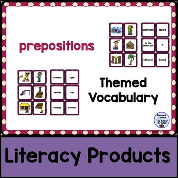 Themed Vocabulary - prepositions