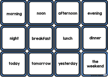 Themed Vocabulary - time