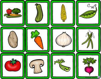 Themed Vocabulary - vegetables and fruits