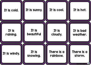 Themed Vocabulary - weather