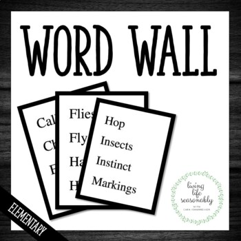Themed Word Wall Words