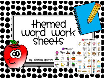 Themed Word Work Practice Sheets