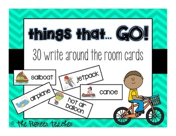 """Themed """"Write Around The Room"""" Cards {Things That GO!}"""