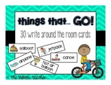 "Themed ""Write Around The Room"" Cards {Things That GO!}"