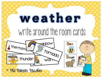 """Themed """"Write Around The Room"""" Cards {Weather}"""