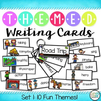 Writing Cards Set #1 (Camping, Pirates, Wild West, Hollywood, Fairytales & More)