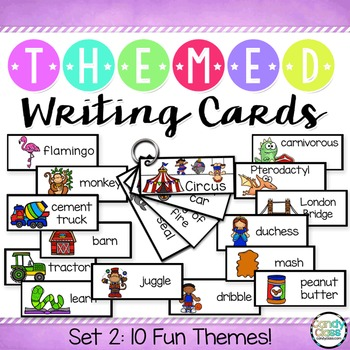 Writing Cards Set #2 (Zoo, Construction, Basketball, Circus, Dinosaurs & More)